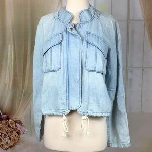 LOFT Blue Light Cotton Jacket